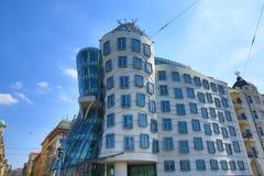 The dancing House, Modern Buildings, Street Smetanovo nábřeží, Prague, Czech Republic Royalty Free Stock Photography