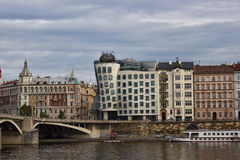 The Dancing House, the Nationale-Nederlanden building in Prague,. PRAGUE, CZECH REPUBLIC - NOVEMBER 4, 2012: The Dancing House, the Nationale-Nederlanden Stock Images
