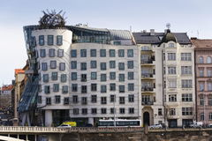 The Dancing House, nicknamed Fred and Ginger, completed in 1996 for Nationale-Nederlanden by Vlado Milunic and Frank Gehry. PRAGUE, CZECH REPUBLIC - MARCH 3: The Stock Images