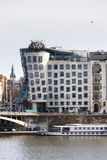 The Dancing House, nicknamed Fred and Ginger, completed in 1996 for Nationale-Nederlanden by Vlado Milunic and Frank Gehry. PRAGUE, CZECH REPUBLIC - MARCH 3 Stock Images