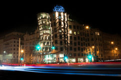 Dancing house at night Stock Image