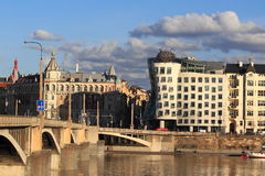 Dancing House in Prague Stock Images