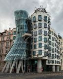 Dancing house in Prague stock image