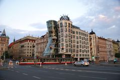 Dancing House in Prague Royalty Free Stock Images