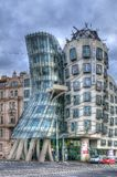The dancing house in Prague stock photography
