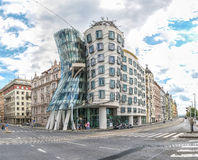 Dancing House at Prague in Czech Republic. A view of the Dancing House located in Prague, Czech Republic which is officially called the Nationale-Nederlanden Royalty Free Stock Images