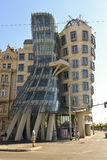 Dancing house in prague Stock Photo