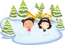 Dancing on ice Royalty Free Stock Photo