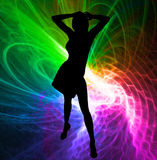 The dancing idol star Stock Image