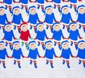 Dancing il Babbo Natale Immagini Stock