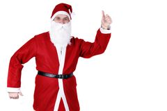 Dancing il Babbo Natale Fotografie Stock