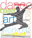 Dancing illustration. Stock Image