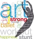 Dancing illustration. Stock Images