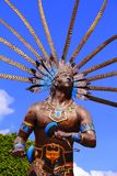 Dancing indian statue I. Dancing indian statue, queretaro city, mexico Stock Image