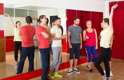 Dancing instructor showing how to dance Stock Photos