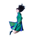 Dancing irish dance. On the white background stock images