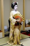 Dancing Japanese Geisha during Spring Festival Stock Photography