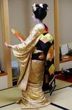 Dancing Japanese Geisha during Spring Festival Stock Image