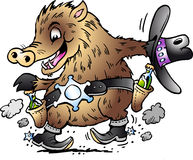 Dancing Javelina Boar Stock Images