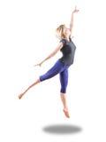 Dancing jump royalty free stock photos