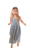 Dancing jumping child Royalty Free Stock Images