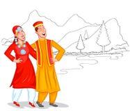 Dancing Kashmiri couple Stock Images