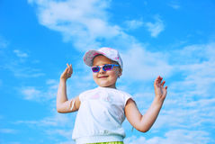 Dancing kid Royalty Free Stock Photo