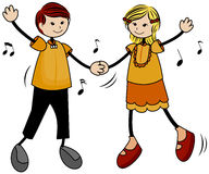 Dancing Kids Royalty Free Stock Photo