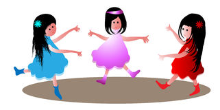 Dancing kids Royalty Free Stock Photo