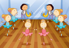Dancing kids Stock Image