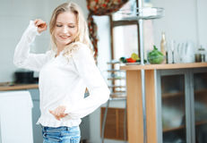 Dancing at the kitchen Royalty Free Stock Photo