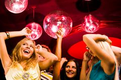 Dancing ladies Stock Photo