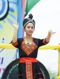 Dancing laos and thai in Festival Songkran border Thailand - Laos 2017 Royalty Free Stock Images