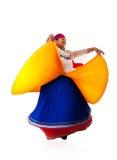 Dancing Latin Gypsy woman royalty free stock photo