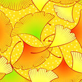 Dancing leaves seamless Stock Photo