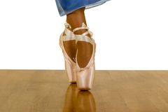 Dancing Legs. Beauty of Ballerina Dancing Legs, isolated, clipping path included Stock Photo