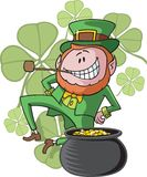 Dancing Leprechaun Stock Photos