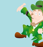 Dancing Leprechaun Background Royalty Free Stock Photos