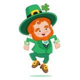 Dancing Leprechaun. Irish Dancing Leprechaun Vector illustration Royalty Free Stock Photo