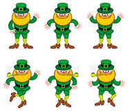 Dancing leprechauns isolated on a white Stock Image