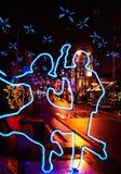 Dancing lights Stock Photography