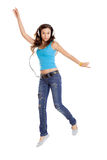 Dancing and Listen Music Stock Images