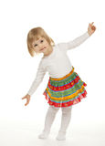 The dancing little girl Royalty Free Stock Images