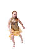 Dancing little girl Stock Photography