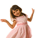 Dancing little girl Stock Photo