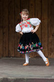 Dancing little girl acting on the stage Royalty Free Stock Photography