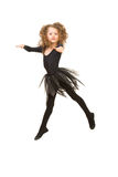 Dancing little girl in the air Stock Image