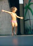 Dancing little girl Stock Photos