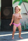 Dancing little girl Royalty Free Stock Photography