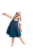Dancing little girl Royalty Free Stock Photo